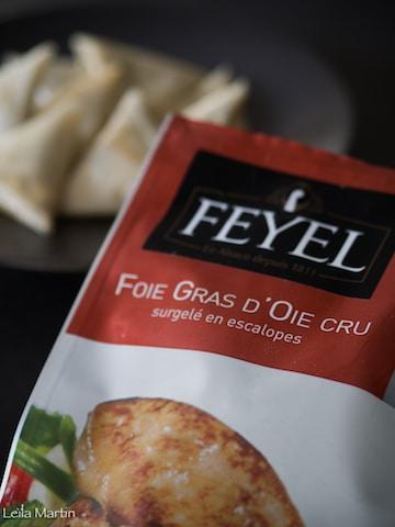 Samoussas de foie gras et fruits secs comme un berawecka - Cuisiner un foie gras congele ...