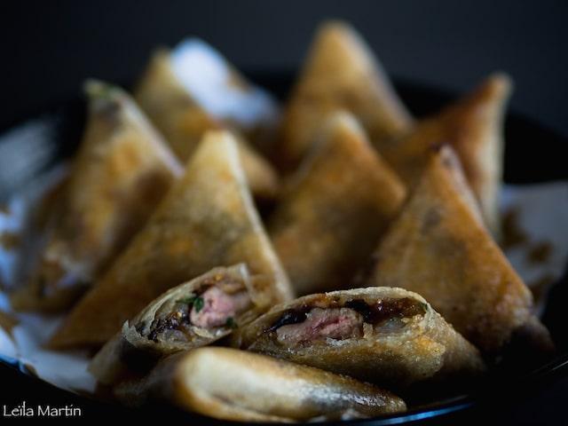 recette de samoussas au foie gras et aux fruits secs