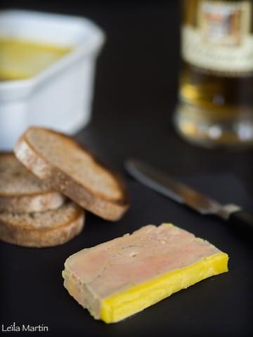 Tranche de foie gras mi-cuit au whisky alsacien et à la vanille