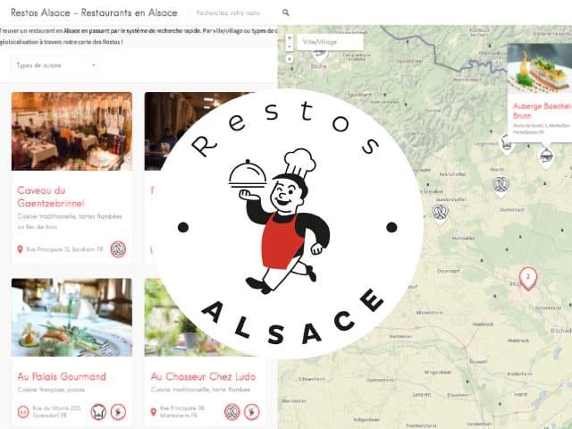 capture d'écran site web restos alsace