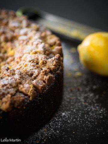 recette de gâteau crazy streusel aux myrtilles et au citron