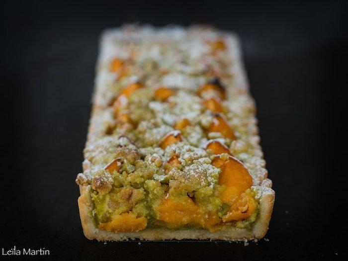 recette de tarte streusel abricot et pistache