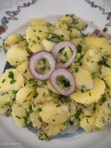 recette de la salade pommes de terre alsacienne
