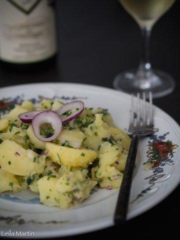 recette de la salade de pommes de terre alsacienne