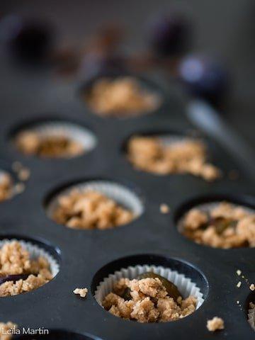 recette de mini-moelleux noix quetsches et streusel noix-cannelle
