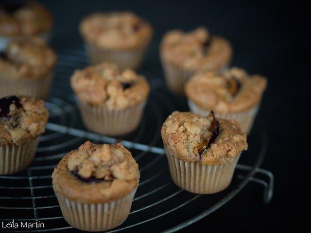 recette de mini moelleux quetsches noix streusel cannelle