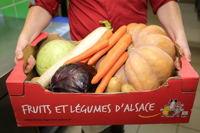 photo fruits et légumes d'Alsace par l'Alsacienne de Restauration