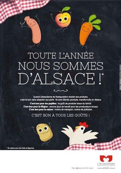 L'Alsacienne de Restauration s'engage à privilégier les produits alsaciens dans ses restaurants