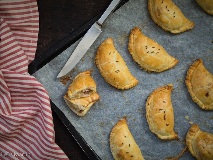 Recette d'empanadas de choucroute et munster au lard paysan fumé