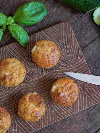 Cake courgette tomates confites munster blanc en portions individuelles par Leïla Martin de Je Vais Vous Cuisiner, blog de recettes de cuisine alsacienne