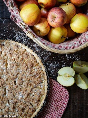 Recette de tarte aux pommes streusel à l'Alsacienne