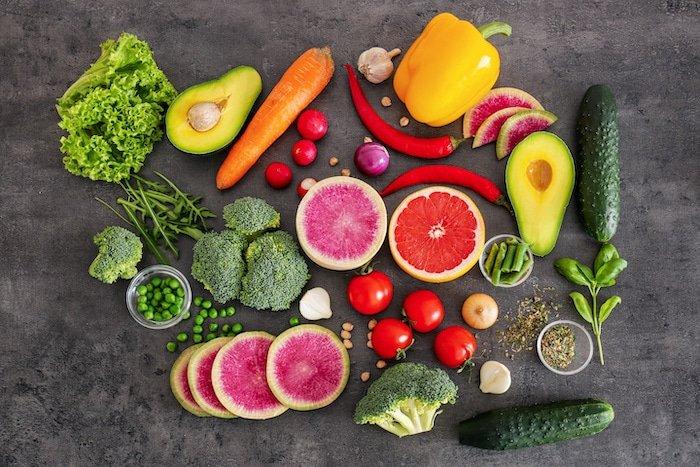 photo de légumes pour une alimentation saine
