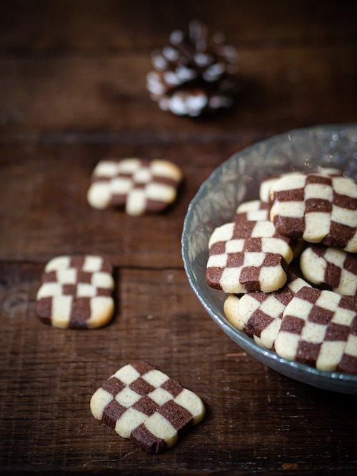 recette de bredele damier chocolat et vanille