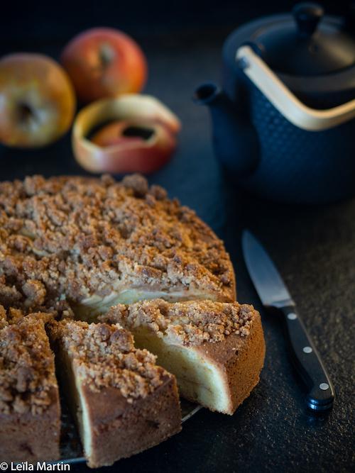 Recette de gâteau streusel aux pommes et à la cannelle